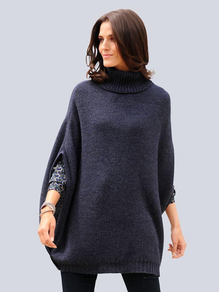 Alba moda Poncho  Blauw