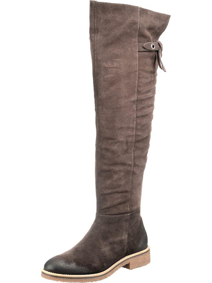 jolana & fenena - Overknee-Stiefel  dunkelbraun