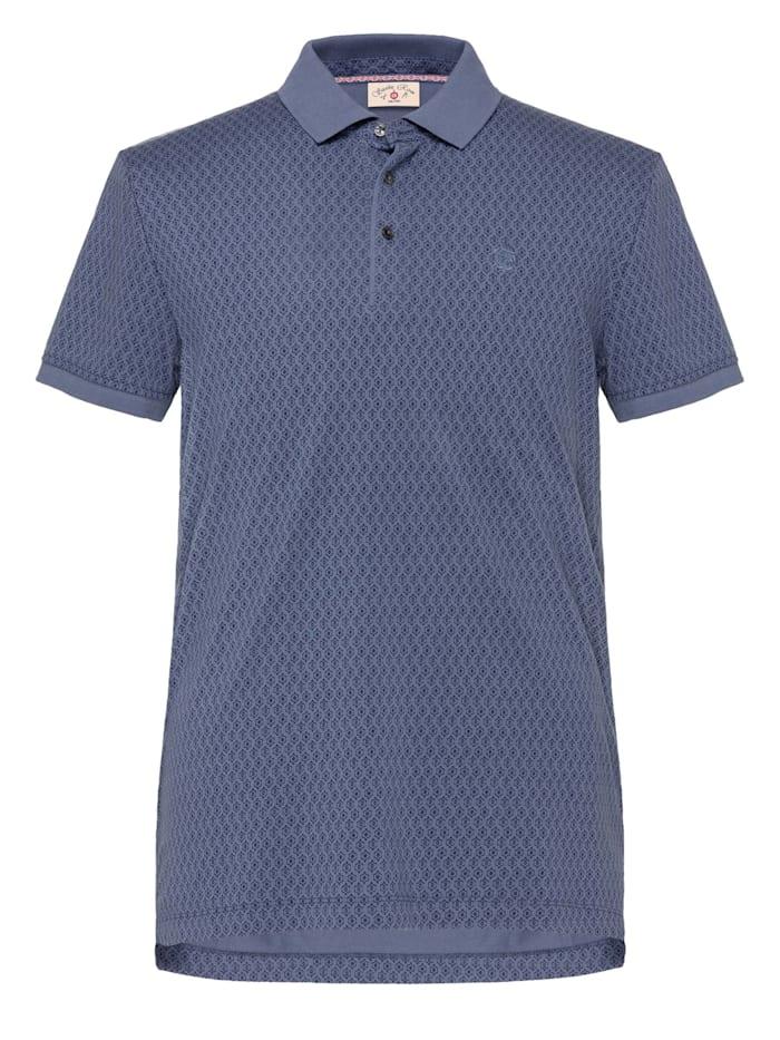 club of gents - Polo-Shirt CG Bennik bedruckt  Blau