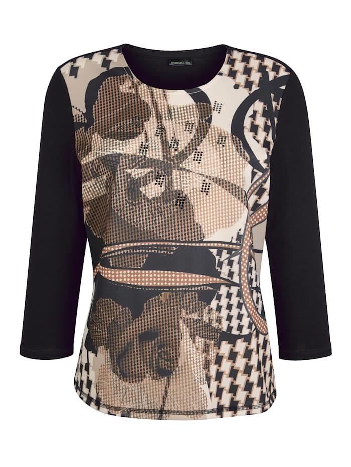 Shirt Barbara Lebek Zwart::Cognac