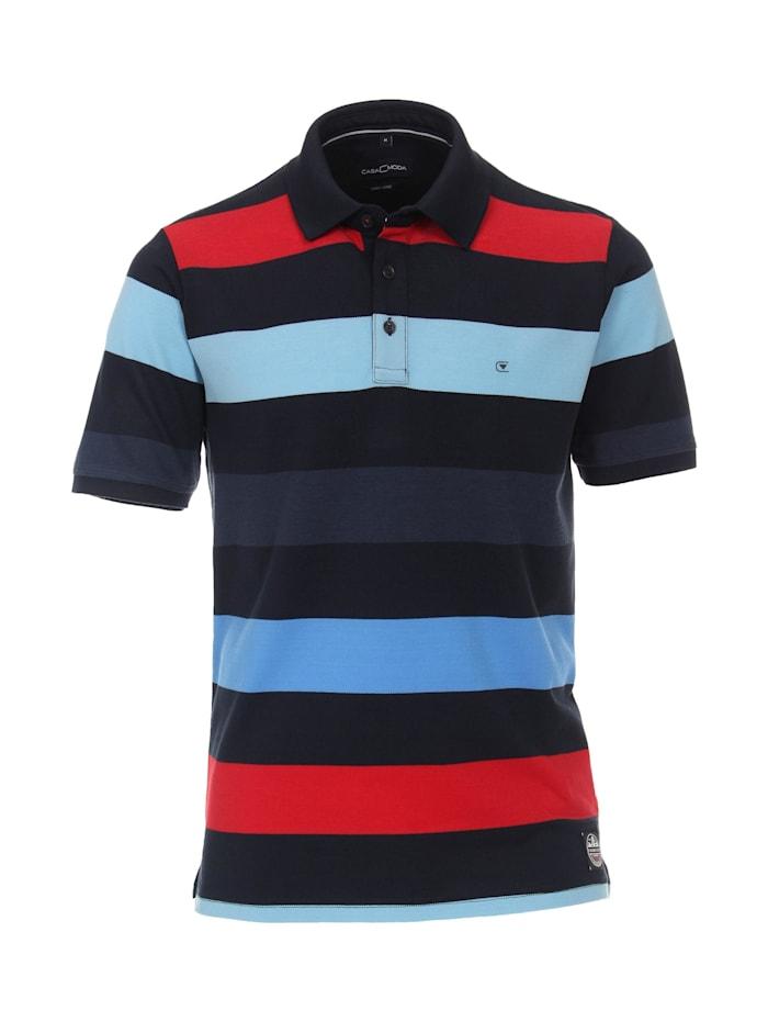 casamoda - Polo-Shirt andere Muster  sattes Dunkelblau
