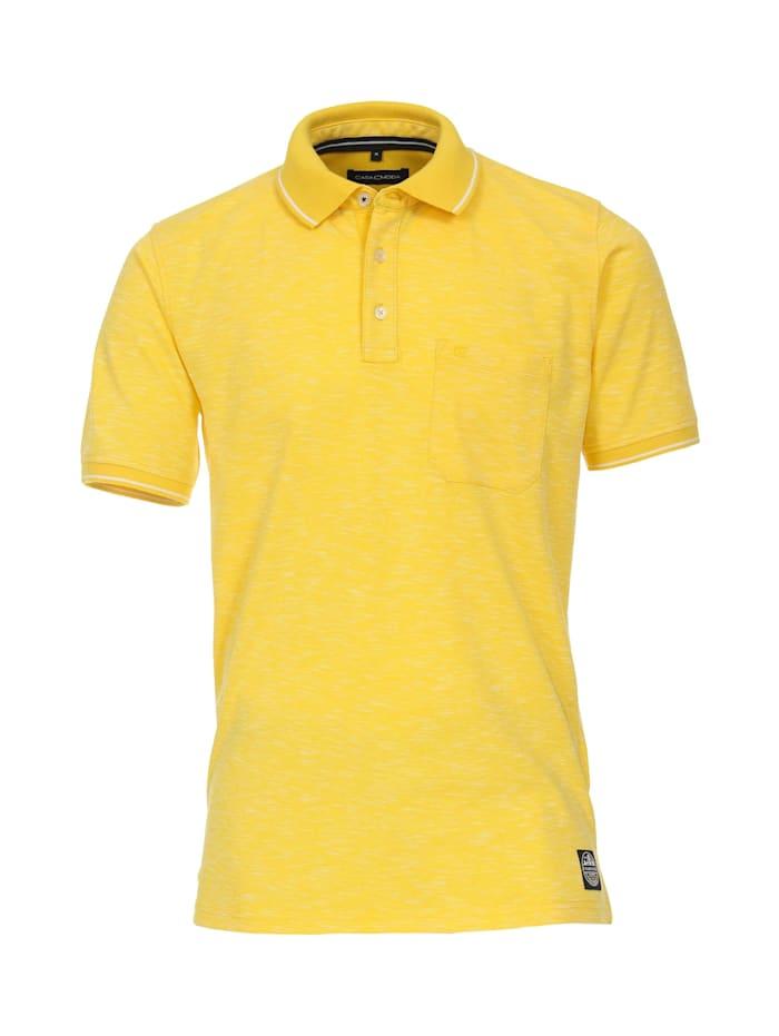 casamoda - Polo-Shirt uni  Hellgelb