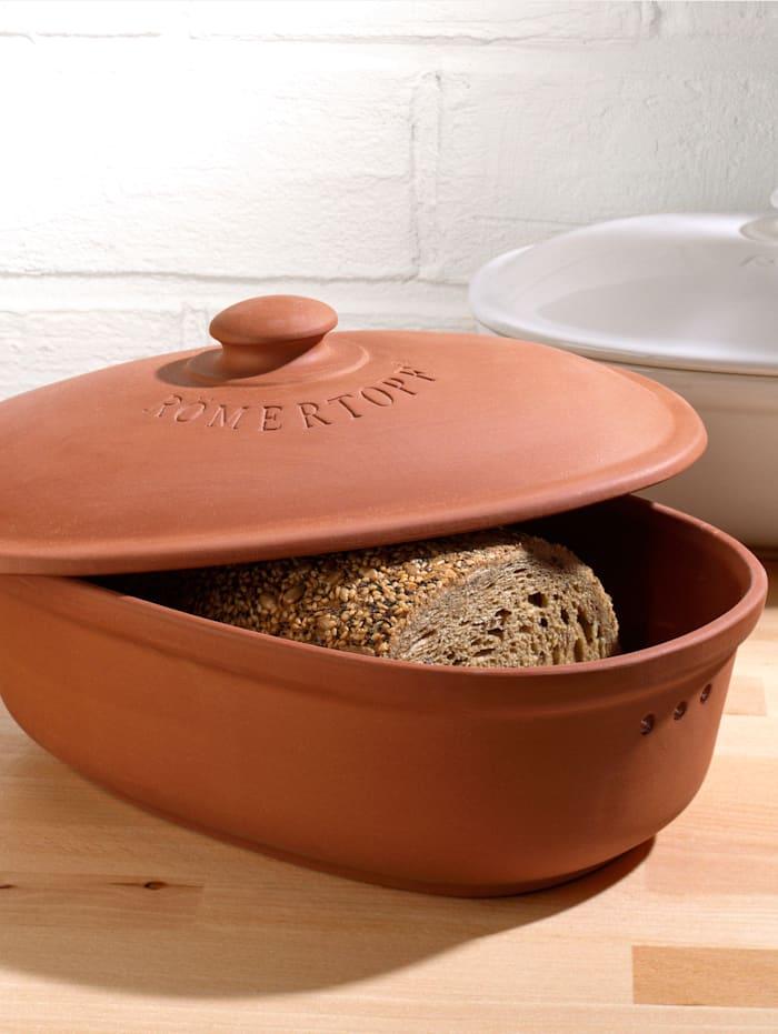 Ovaler Brot-Frische-Topf 'Medium'; terracotta Römertopf terrakotta