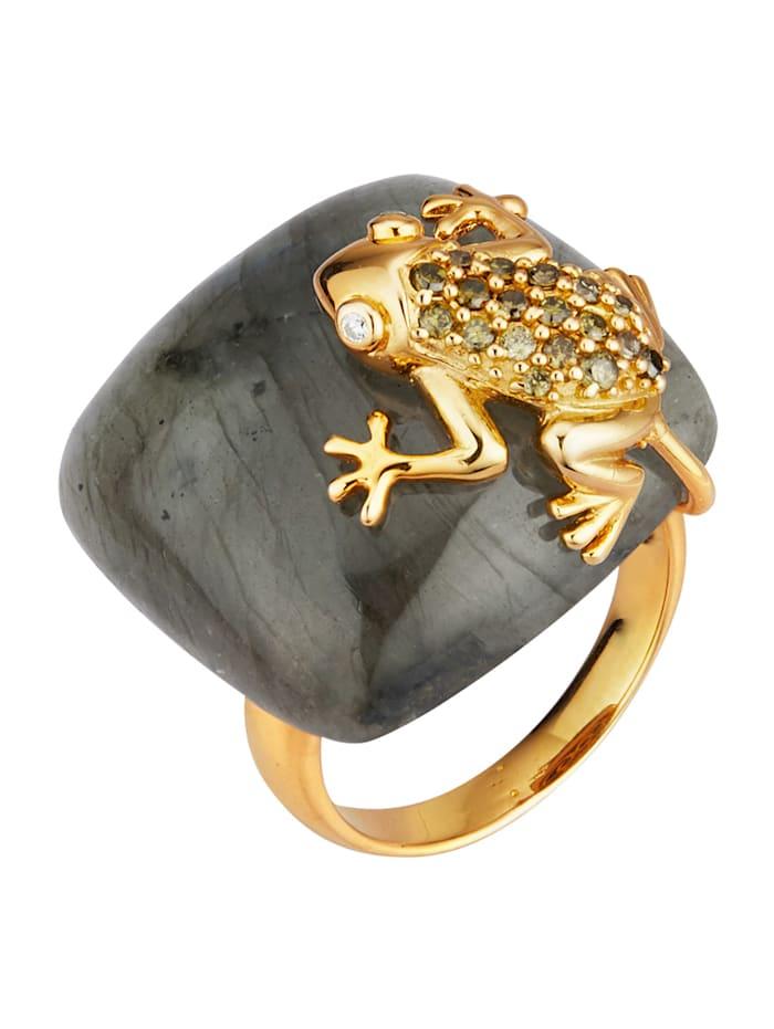 klingel - Frosch-Ring  Grün