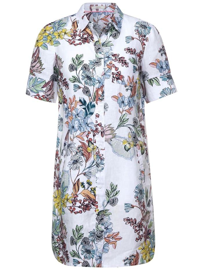 cecil - Kleid mit Blumen Muster  White