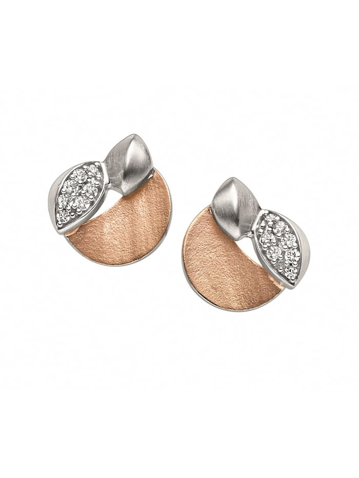 Damen 925 Silber Ohrringe / Ohrstecker mit Zirkonia 1001 Diamonds silber