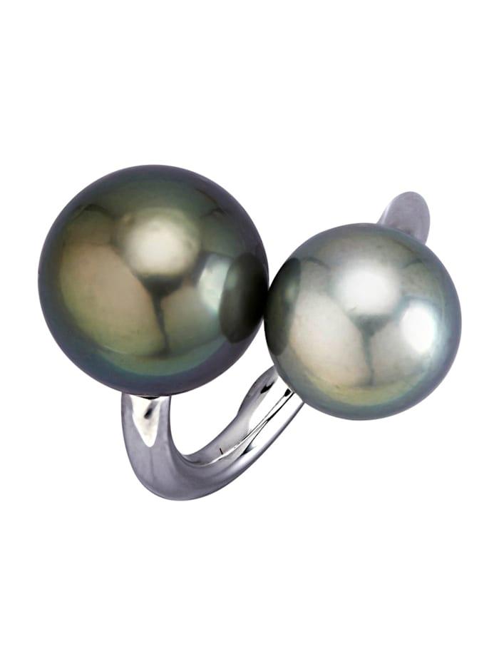 diemer perle - Damenring  Schwarz