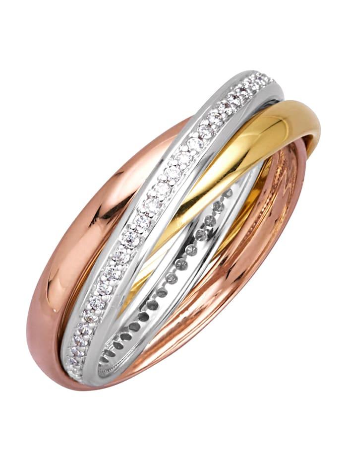 Image of 3tlg. Damenring Amara Diamant Multicolor