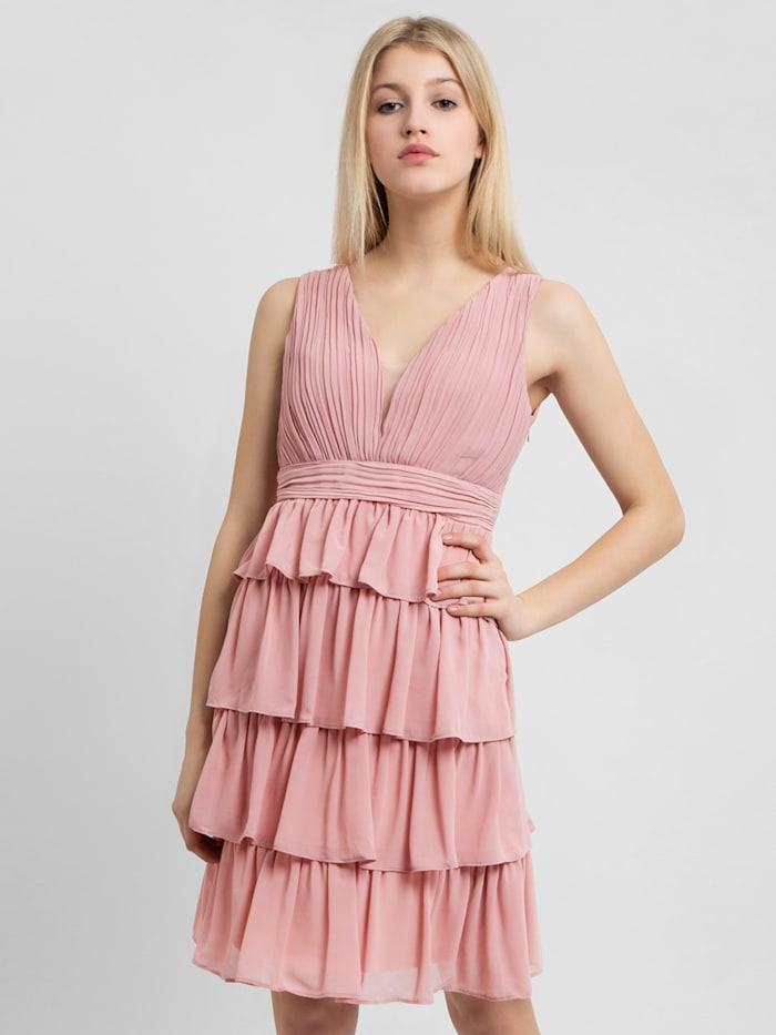 apart - Abendkleid mit Volants im Rockpart  rosa