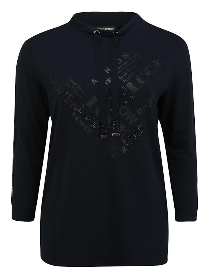 doris streich - Langarmshirt Kragen Shirt  dunkelblau
