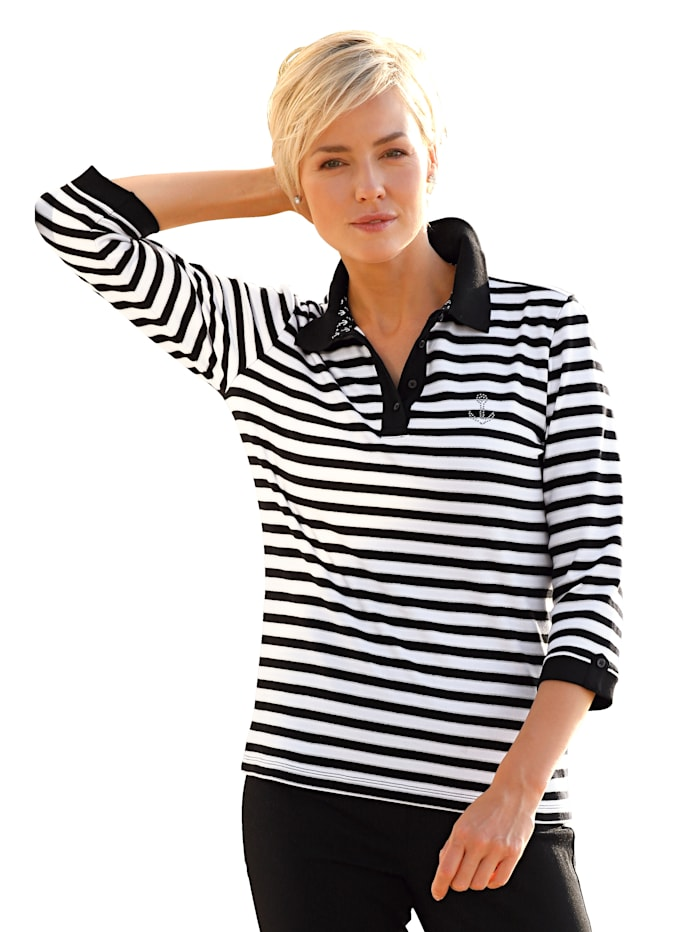 Poloshirt Dress In Zwart