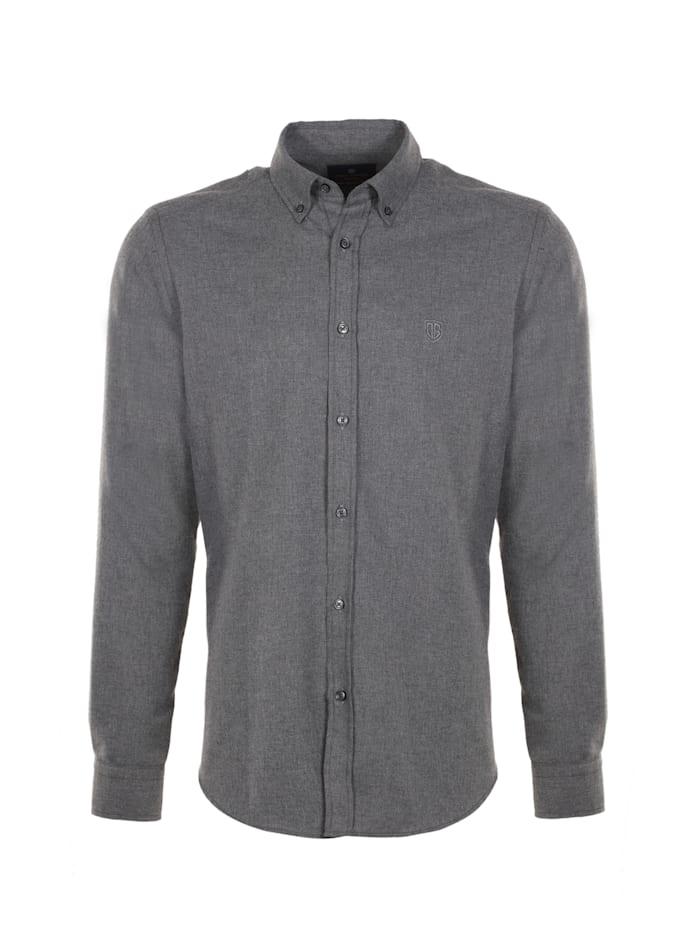 jimmy sanders - Hemd Frantz mit meliertem Stoff  grey
