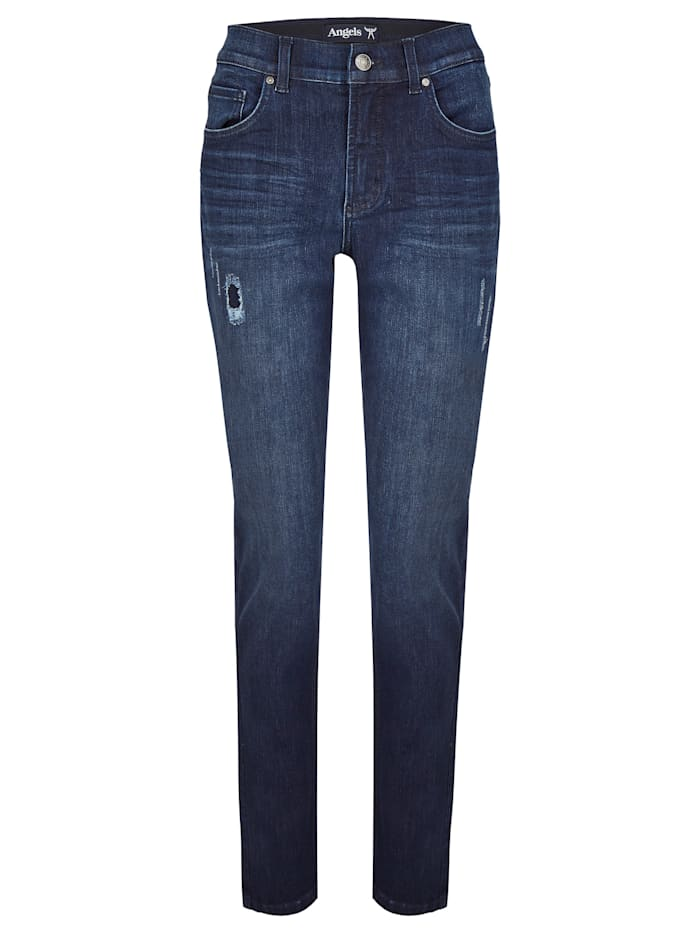 angels - Jeans 'Tama Destroyed' mit Destroyed-Effekten  night blue used buffi crinkle