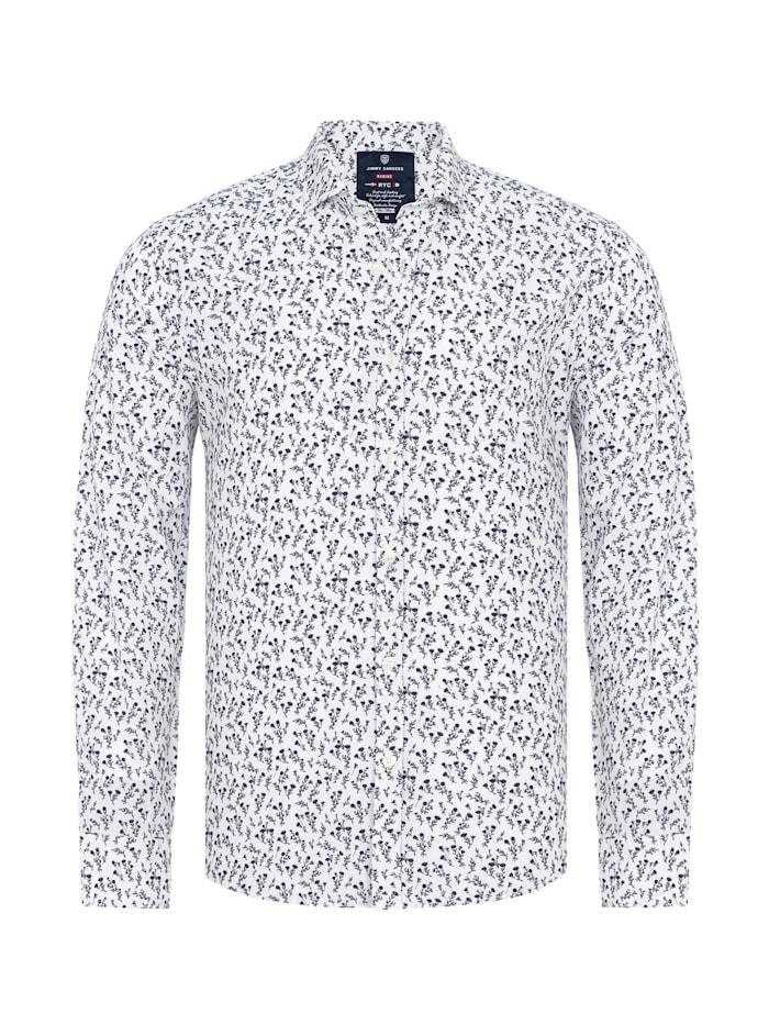 jimmy sanders - Hemd Santino mit floralem Muster  white
