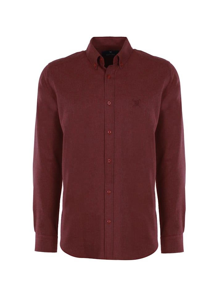 auden cavill - Hemd Ald mit unifarbenen Stoff  Bordeaux