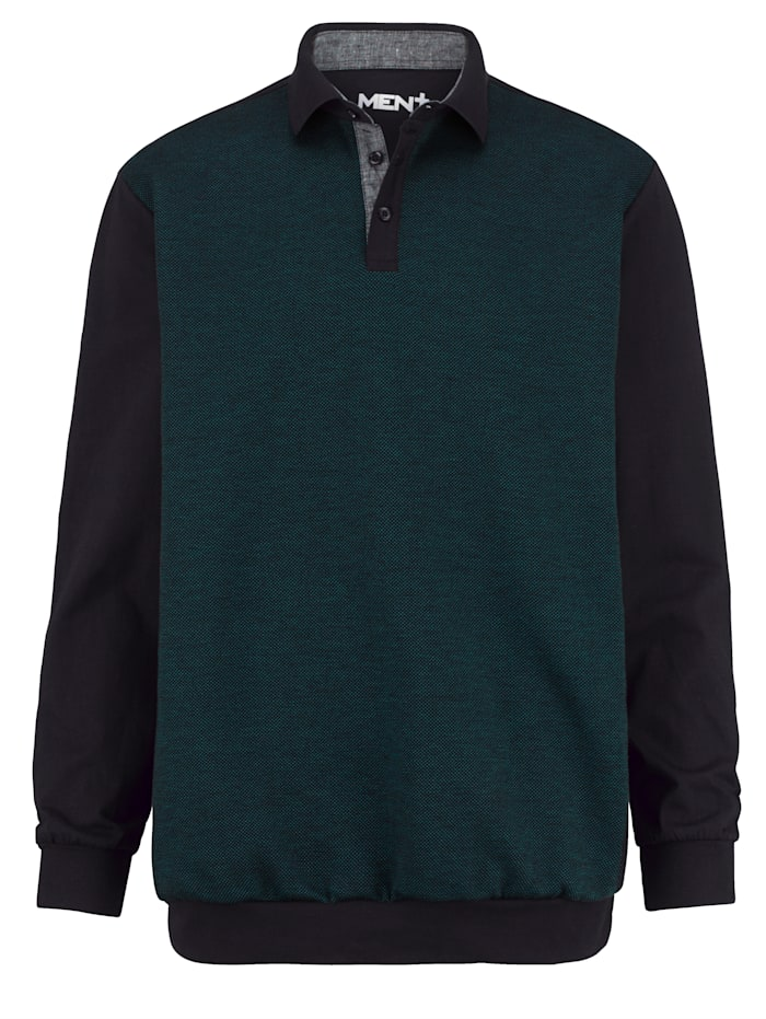 Poloshirt Men Plus Zwart