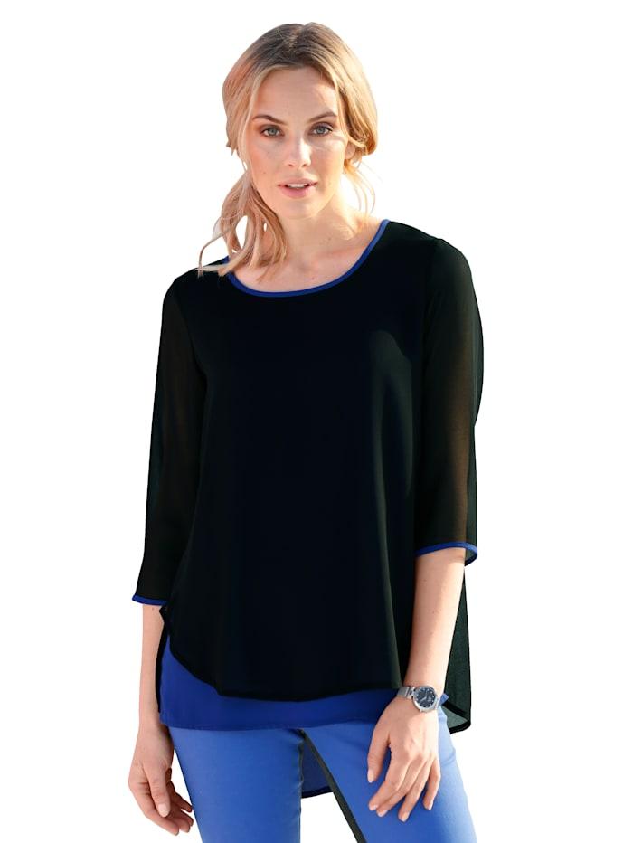 Blouse AMY VERMONT Royal blue::Zwart