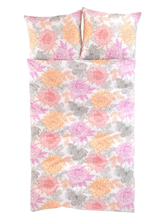 2-delige set bedlinnen Thea Irisette roze/multicolor