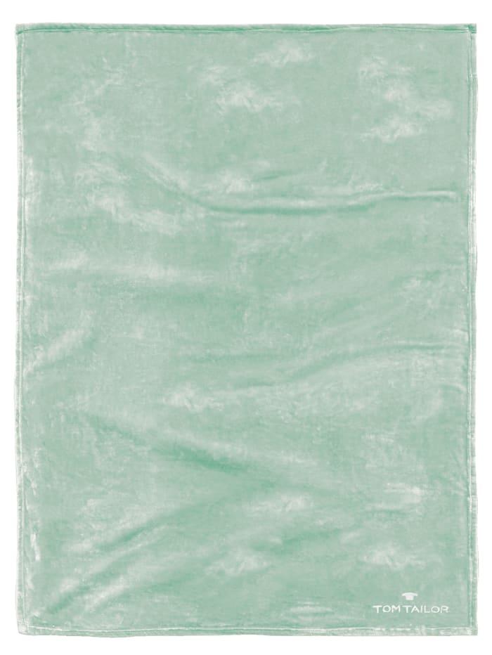 Image of Angorina-Fleece Decke Tom Tailor mint