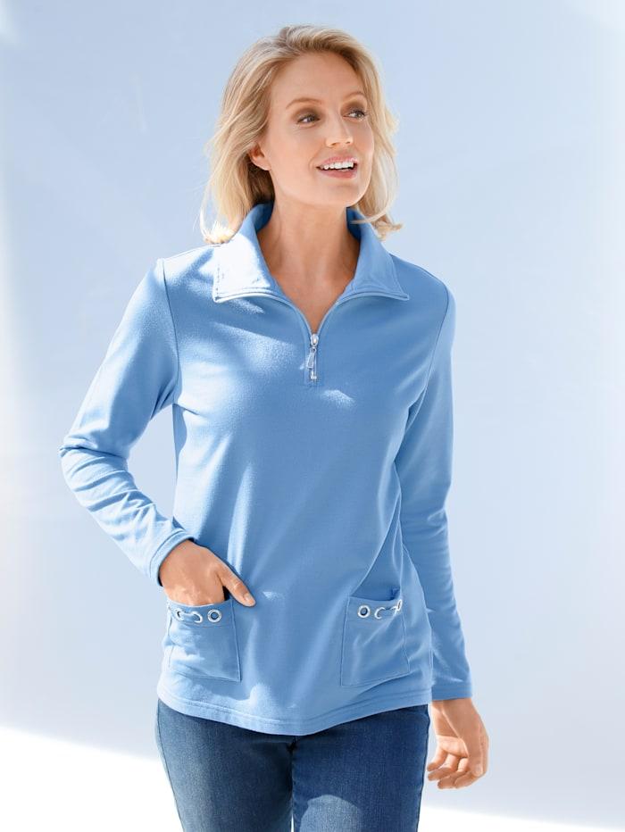Sweatshirt Paola Blau