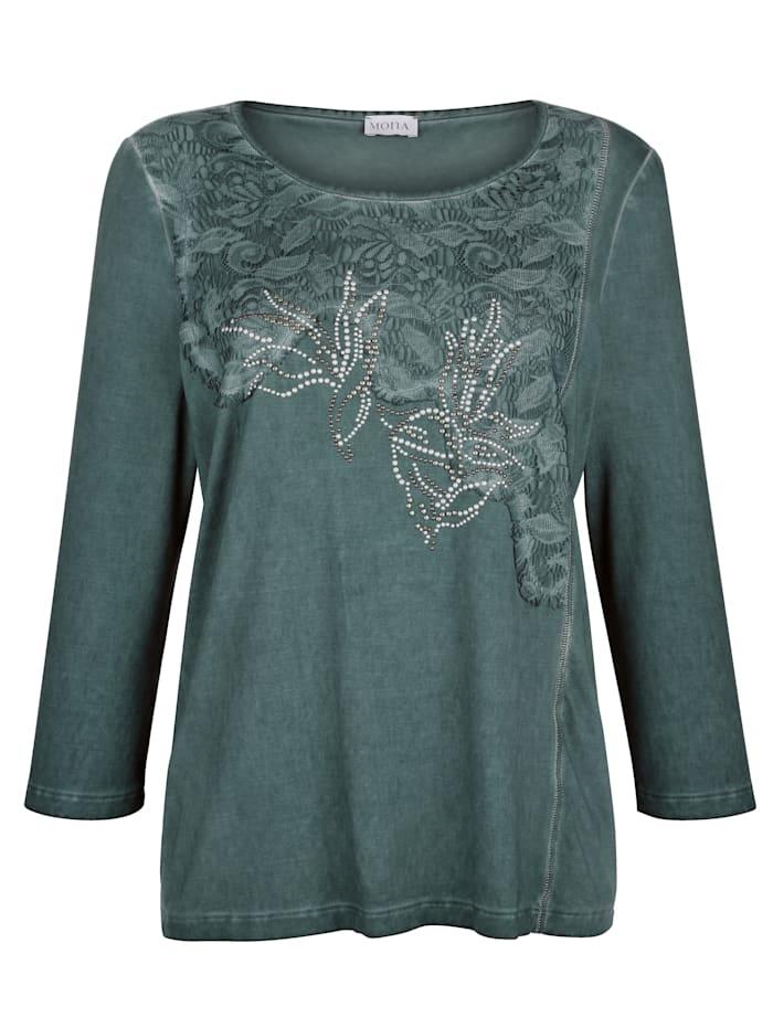Shirt MONA Donkergroen