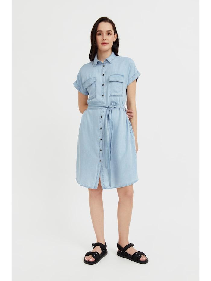 finn flare - Jeanskleid mit Gürtel  light blue