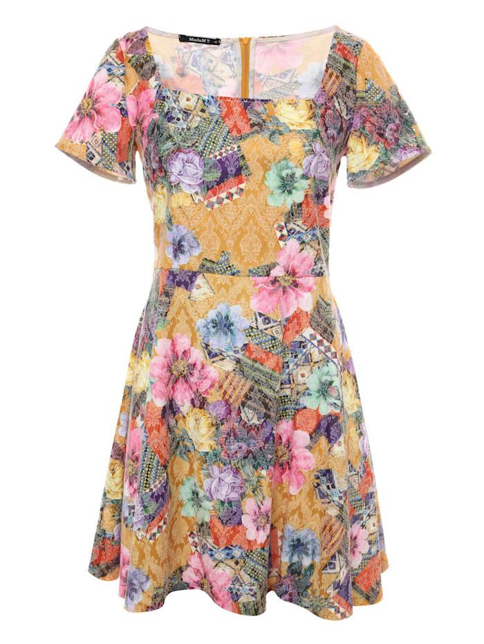 madam-t - Cocktailkleid Kleid Agava  senf, rosa