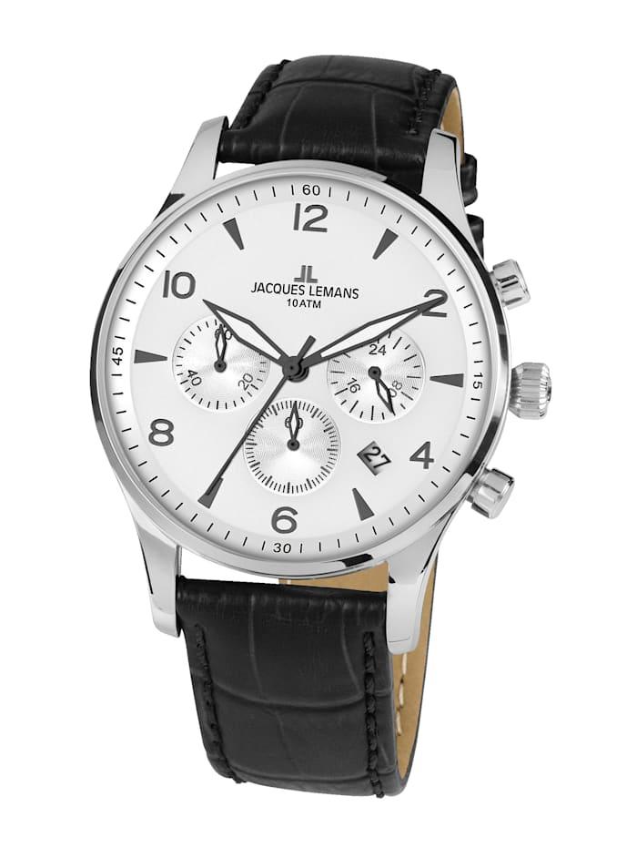 jacques lemans - Herren-Uhr Chronograph  Schwarz