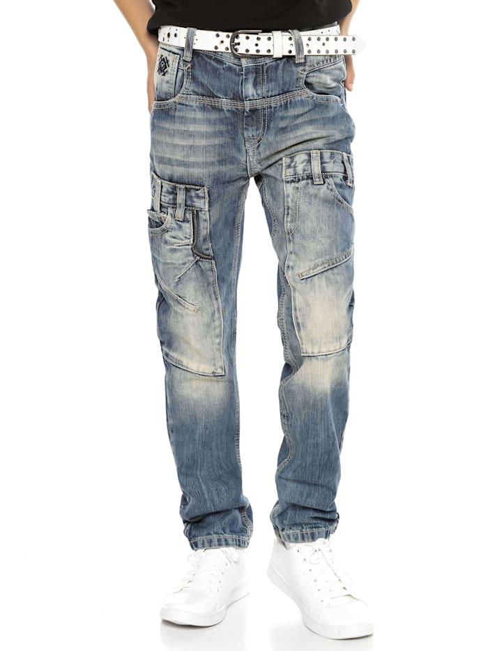 cipo & baxx - Hose im angesagten Boyfriend-Schnitt  BLUE