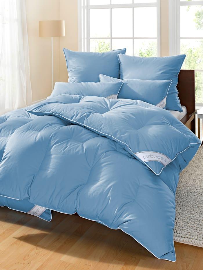 4-delige set bedlinnen Webschatz blauw