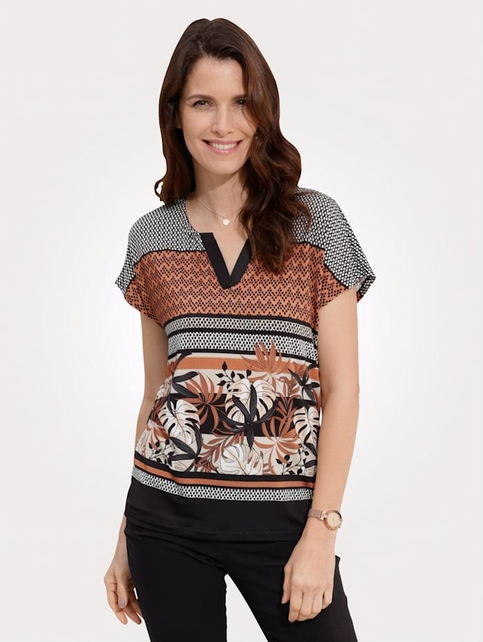 Shirt MONA Zwart::Terracotta