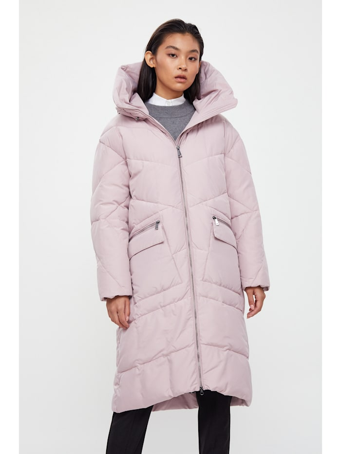 finn flare - Wintermantel mit kuscheliger Kapuze  pink