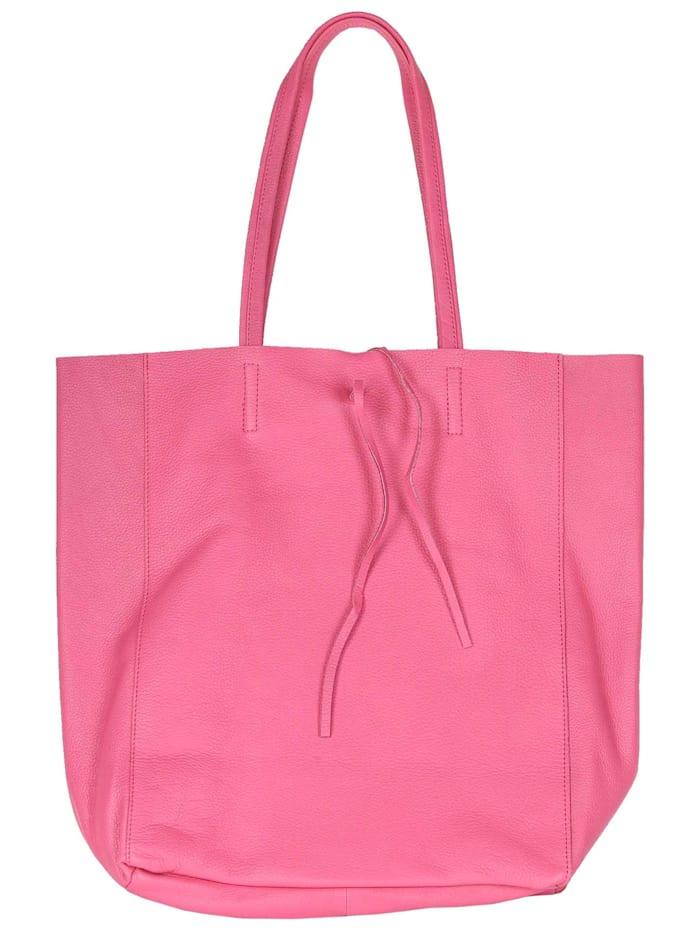 zwillingsherz - Shopper 100% Leder Amelie  pink