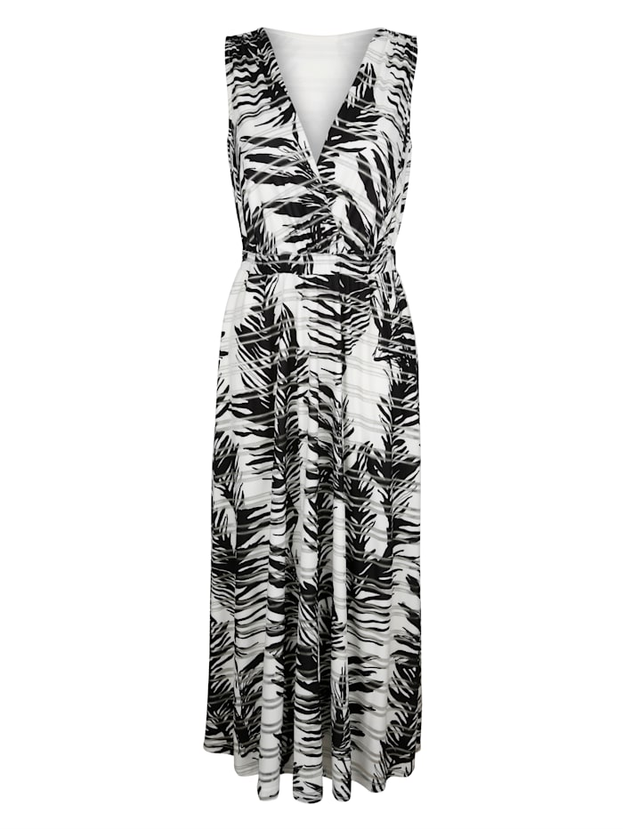 Alba moda Jersey jurk  Zwart::Offwhite::Zilverkleur