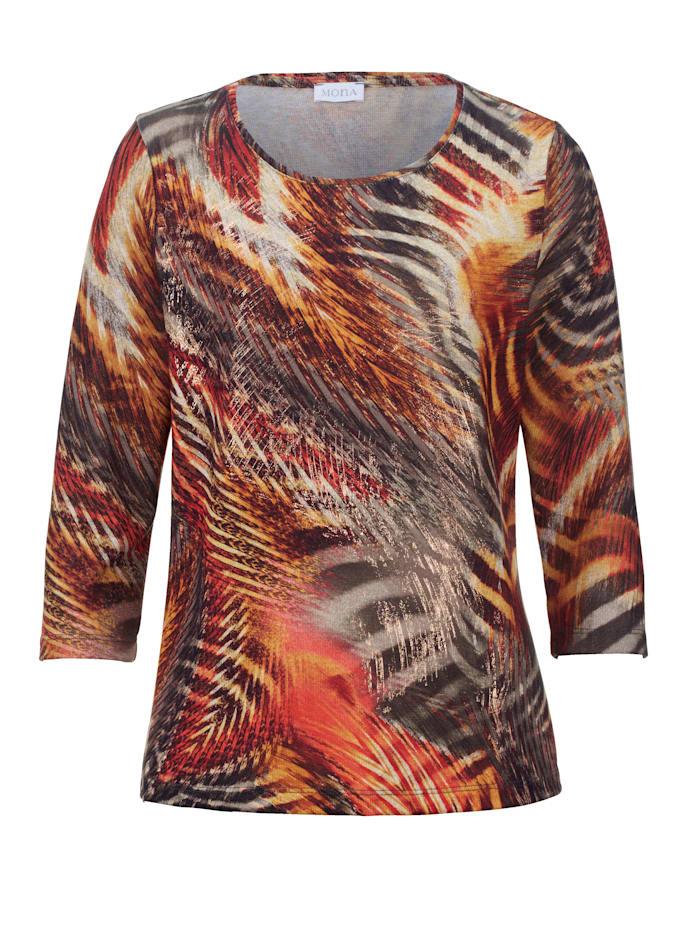 Shirt MONA Terracotta::Olijf::Koperkleur