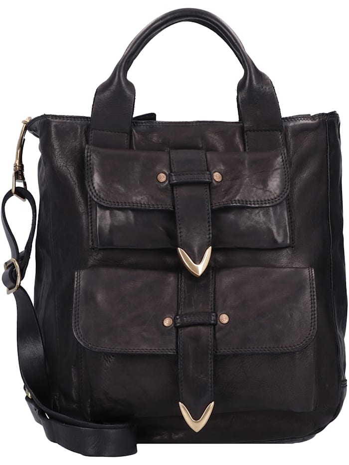 campomaggi - Shopper Tasche Leder 28 cm  nero