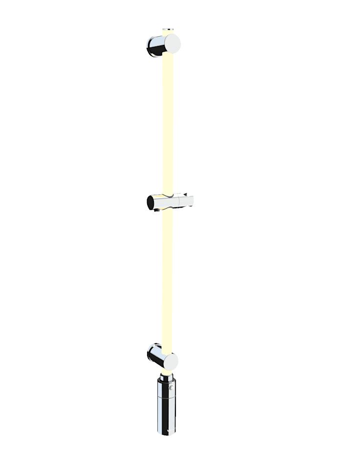 Image of Dimmbare LED-Duschstange 94 cm, 11 Farben & warmweiß, abnehmbare Akku-Einheit, Fernbedienung, Bewegungsmelder Wenko Weiß