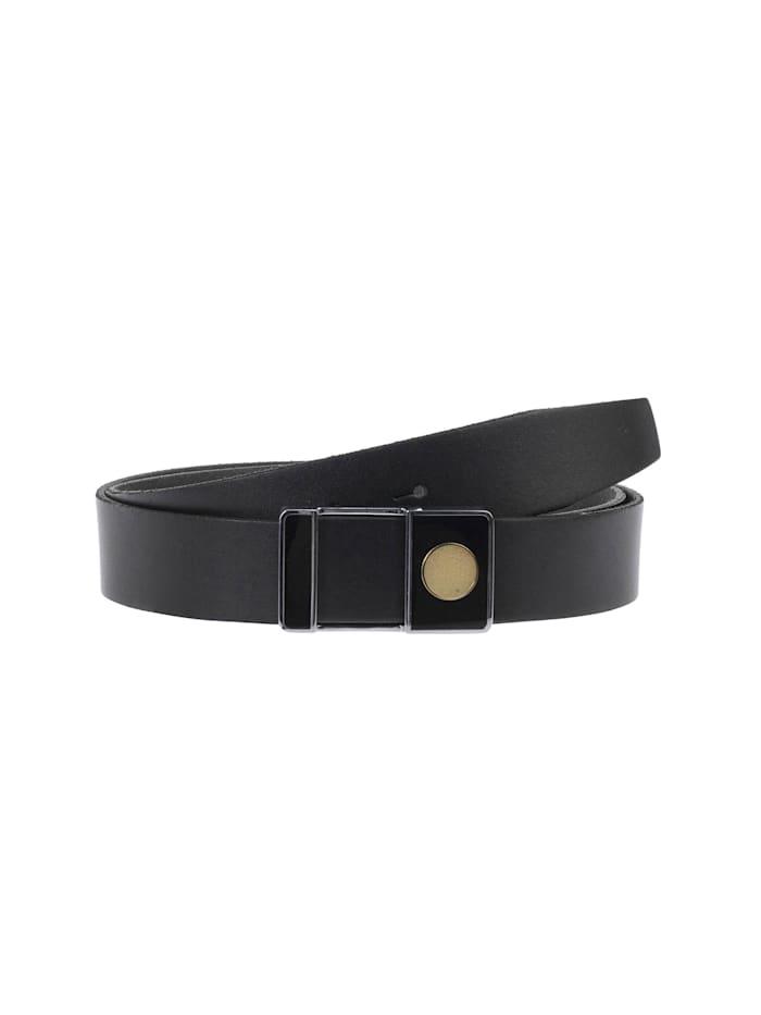 cipo & baxx - Ledergürtel mit ausgefallener Gürtelschnalle  Black