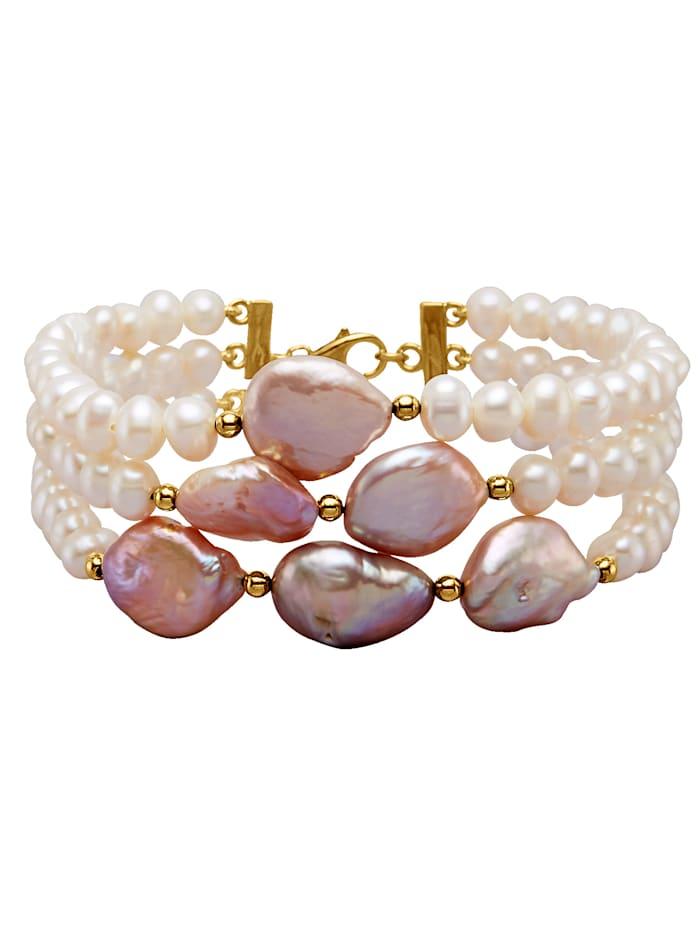 3-rijige armband Diemer Perle Multicolor