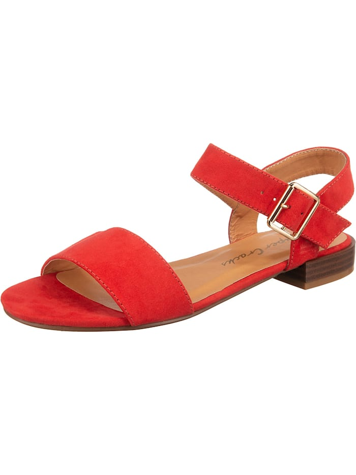 supercracks - Dedi Riemchensandalen  rot