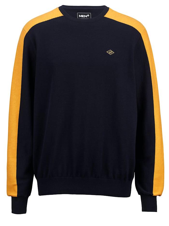 men plus - Pullover  Marineblau::Gelb