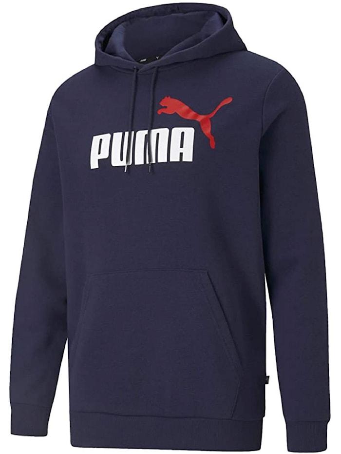 puma -  Hoodie ESS+ 2 Col Big Logo  Dunkelblau