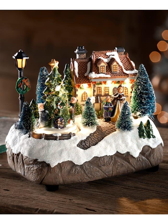 LED-Winterlandschaft Näve bunt