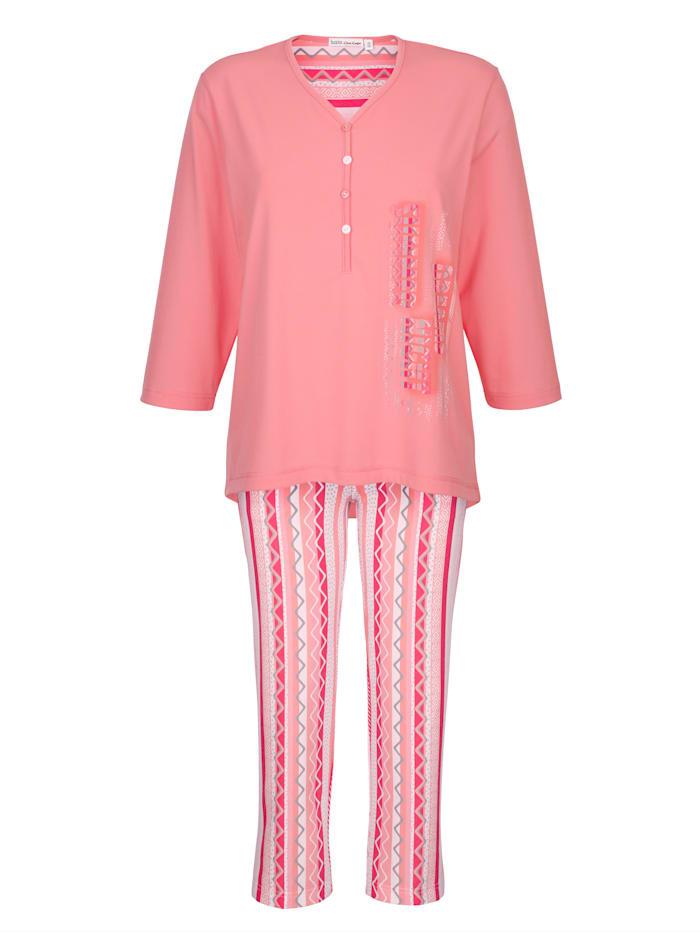 Schlafanzug Hajo koralle weiß hummer