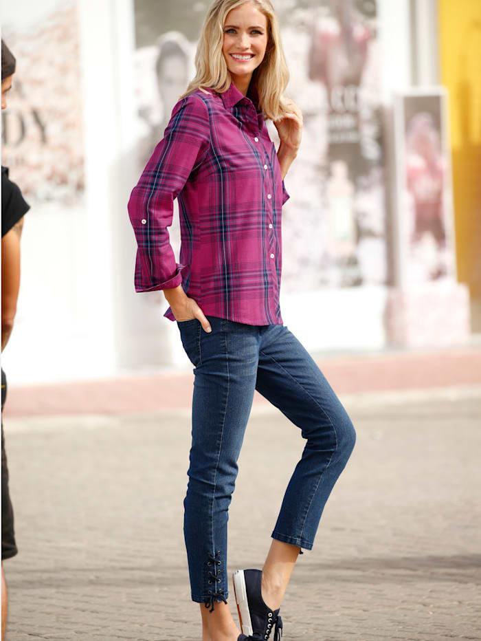 3 4 Jeans Dress In Blau