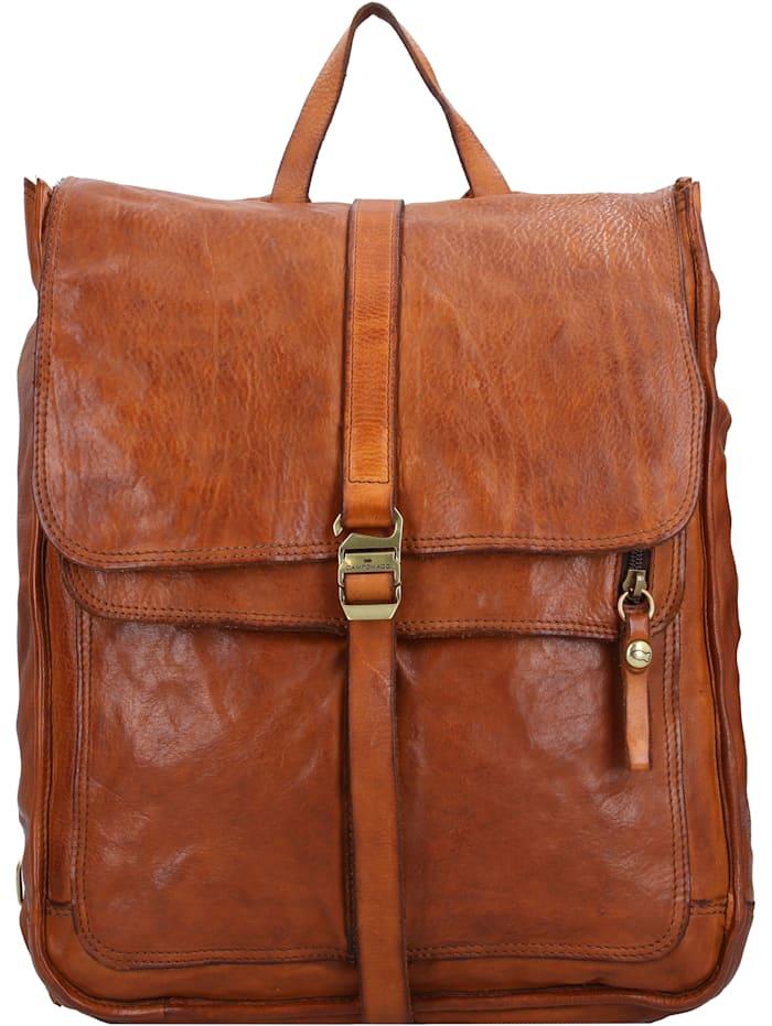 campomaggi - Rucksack Leder 36,5 cm Laptopfach  cognac