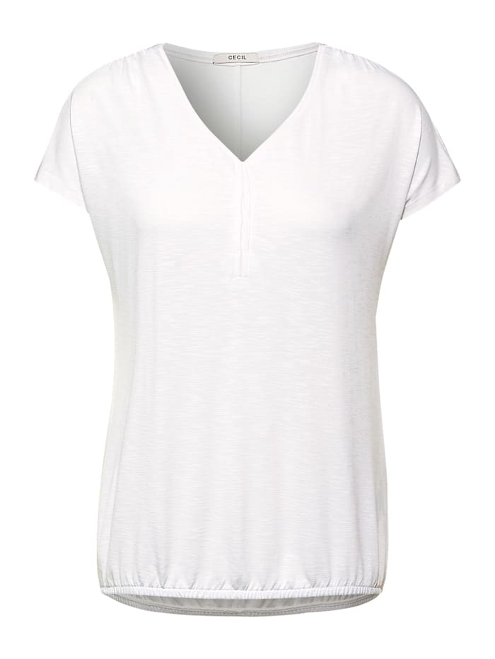Softes Shirt in Unifarbe Cecil pure off white