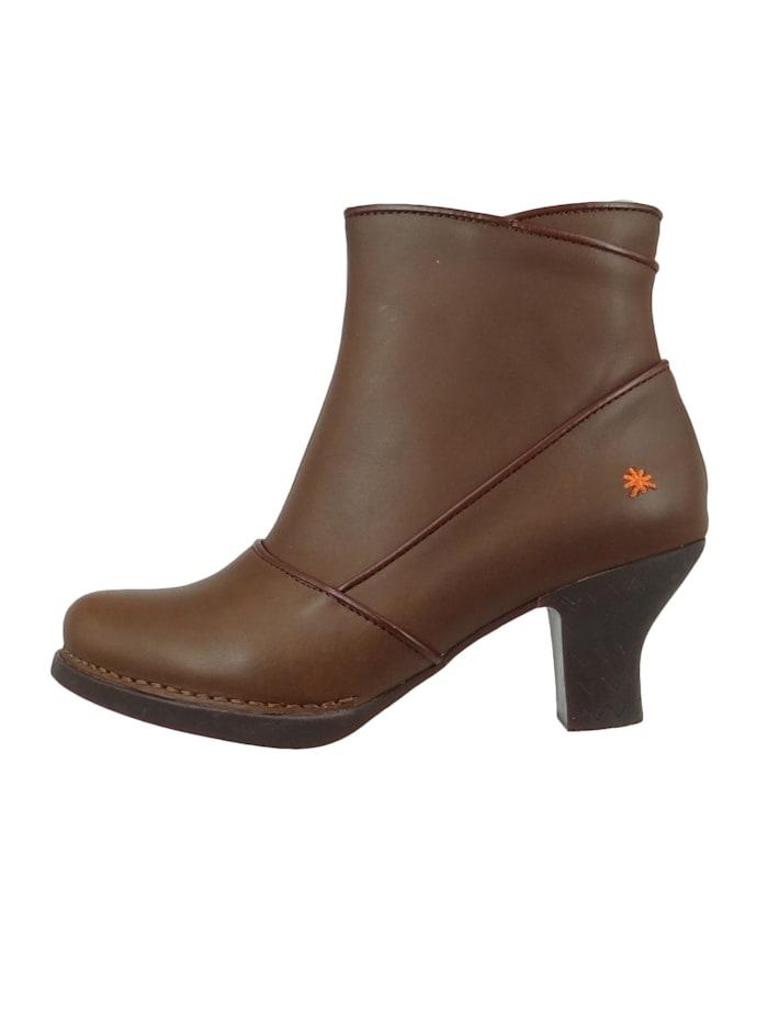 *art - Damen Leder Stiefelette Ankle Boot Harlem Brown Braun 0945  Brown