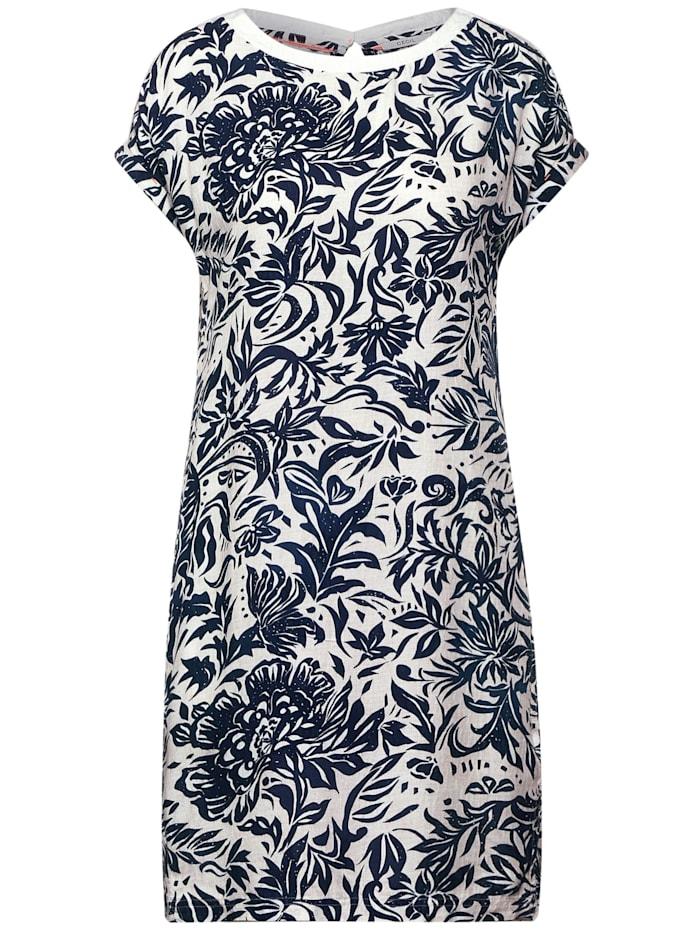 cecil - Kleid mit Blumen Print  pure off white