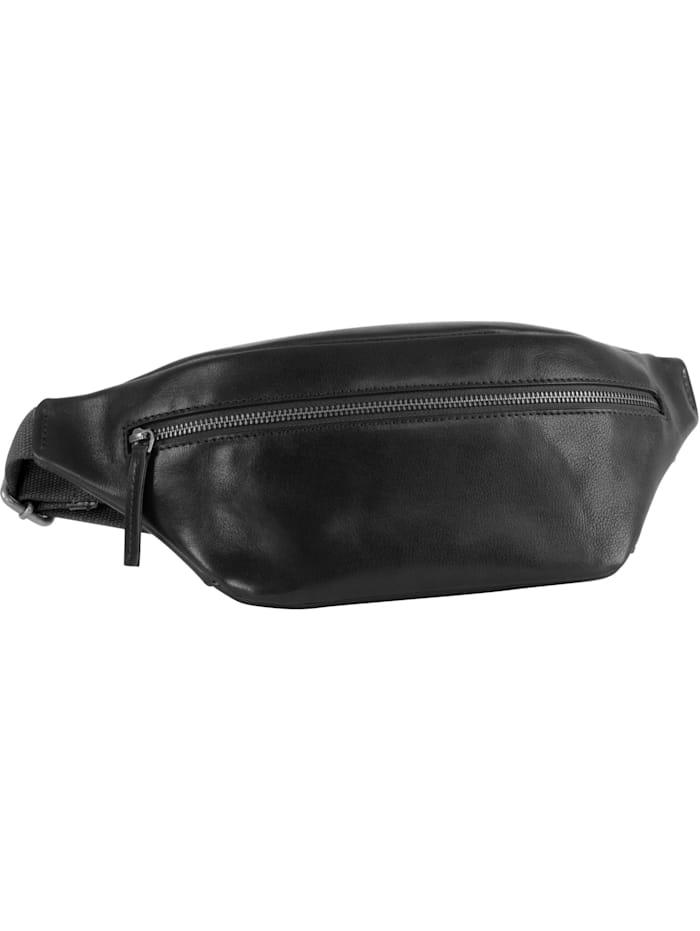 leonhard heyden - Roma Gürteltasche Leder 28 cm  schwarz